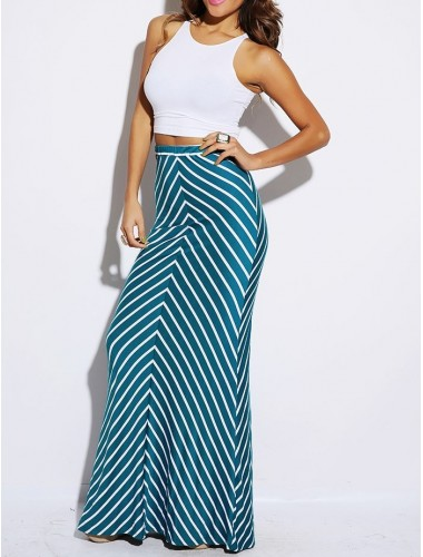 Striped Maxi Skirt | Clothing | Womens Clothing, Shoes, Jewelry & Plus Sizes | B. De'Lish