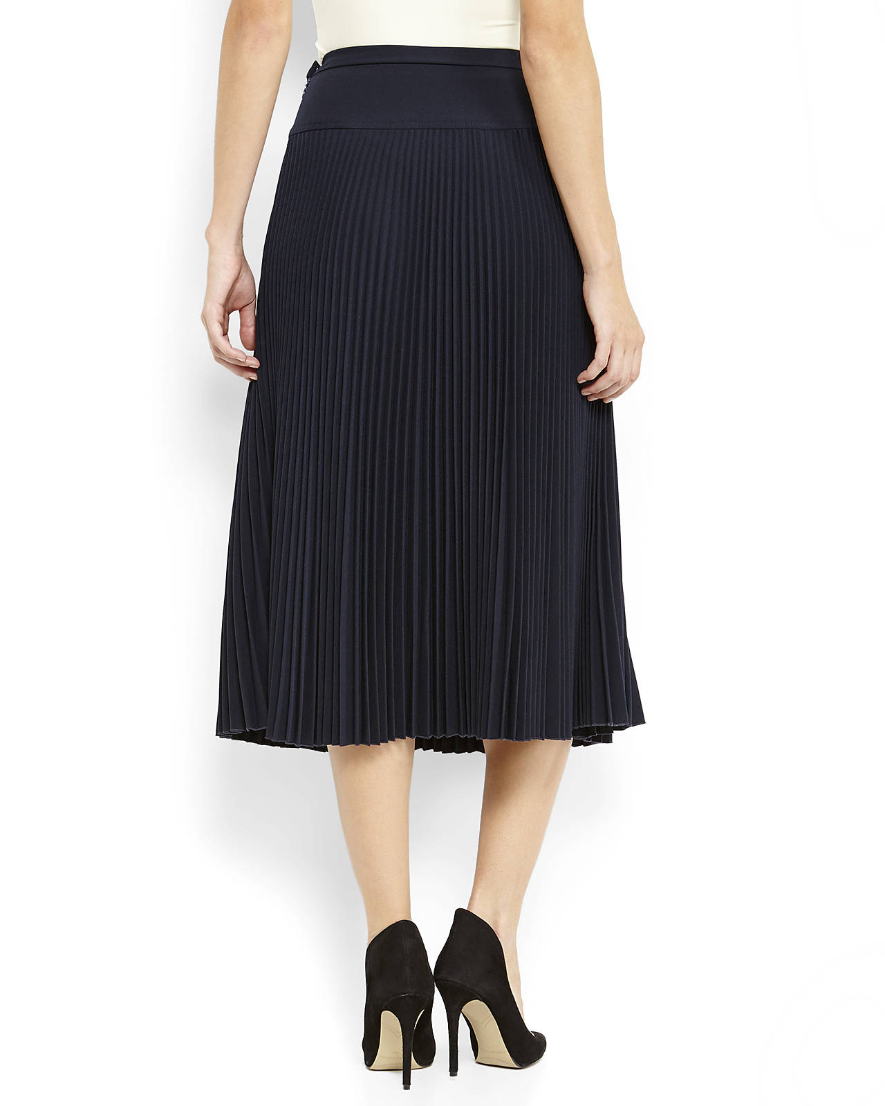 PANIZ Pleated Midi Skirt | Shop Women's Clothing & Accessories | Century 21 Department Store