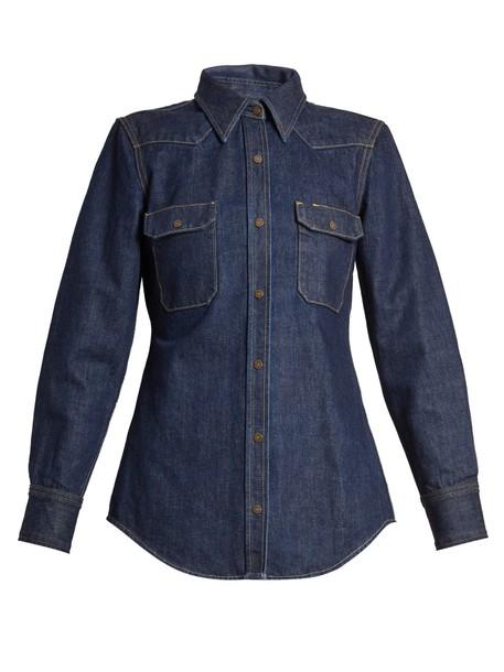 CALVIN KLEIN 205W39NYC shirt denim shirt denim blue top