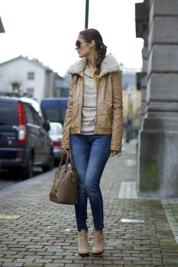 from brussels with love jeans sweater jacket jewels bag