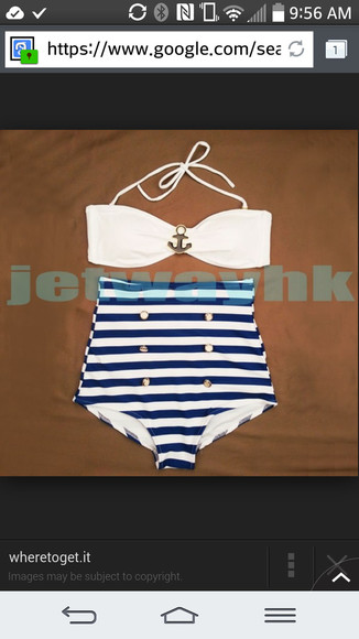 anchor swimwear stripes