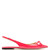 Blare point-toe slingback patent-leather flats