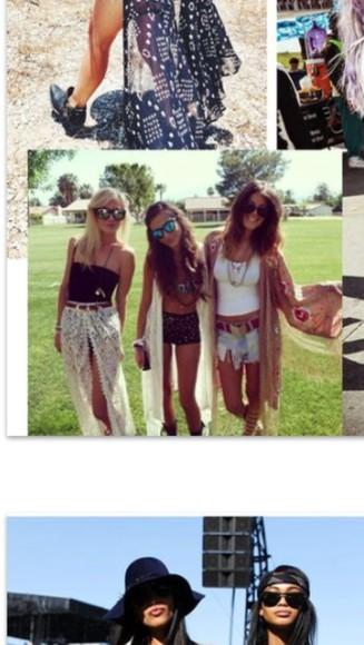 maxi skirt festival boho