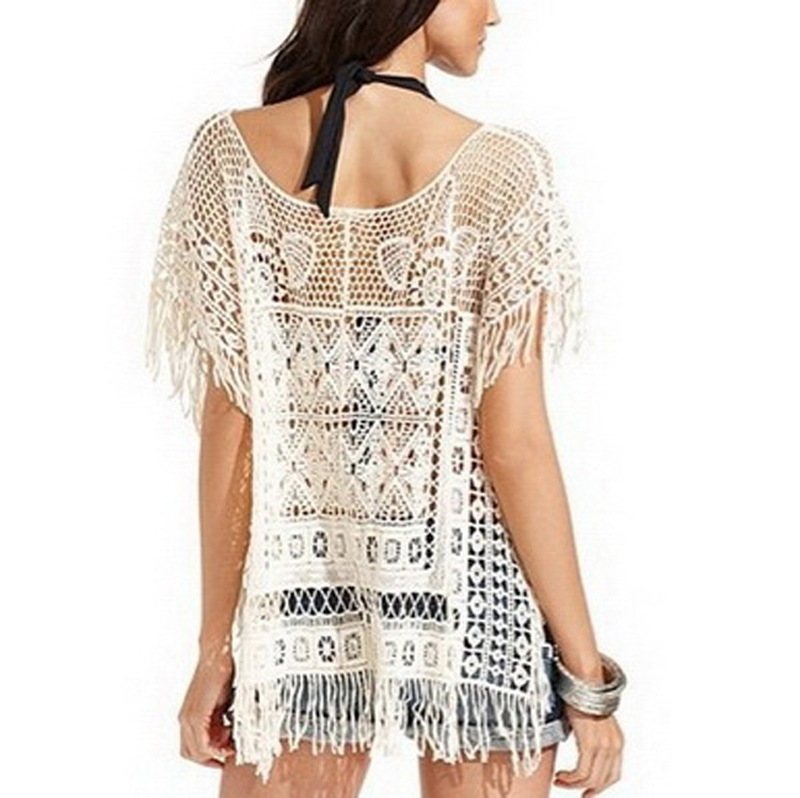 Women's Fashion Sexy Lace Hollow Crochet Beach Dress Bikini Swimwear Cover Up | eBay