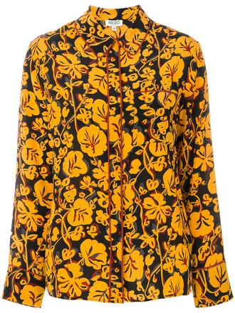 shirt women print silk top