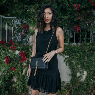 honey n silk blogger black dress yves saint laurent