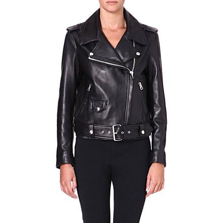 ACNE - Mape leather biker jacket | Selfridges.com