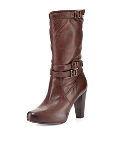 Marissa slouchy leather mid