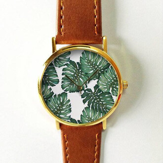 jewels summer spring watch handmade style fashion vintage etsy freeforme gift ideas new leaf leaves tree