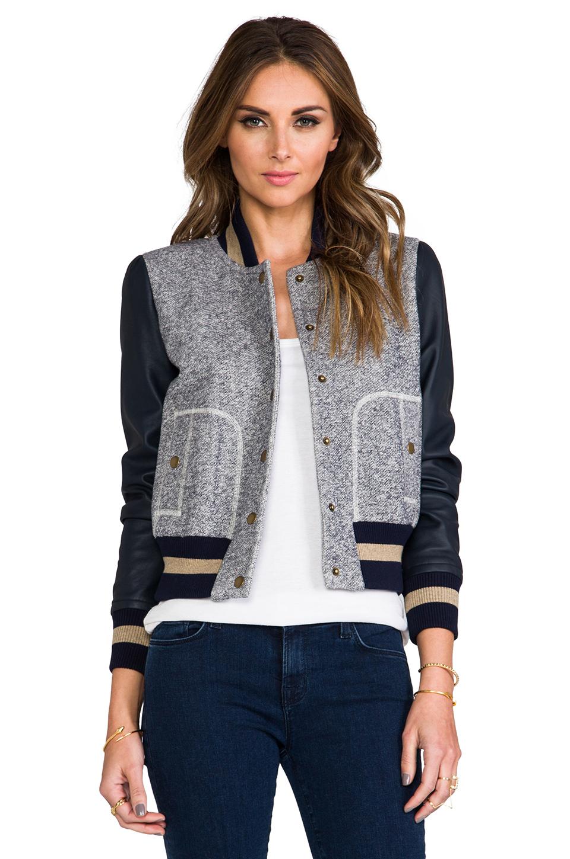 Rachel Zoe Ryder Baseball Jacket in Admiral | REVOLVE