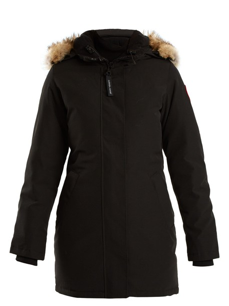canada goose coat fur black