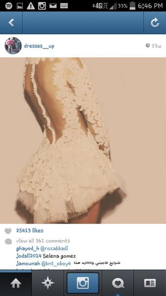 dress cream lace mesh openback prom wedding short floral floraldress floral print beautiful birthday cream dress lace dress mesh dress homecoming dress prom dress