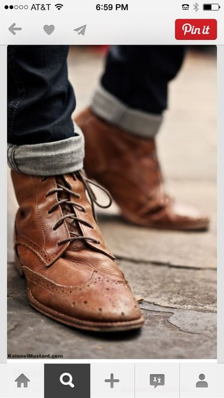 shoes mens shoes vintage boots brown leather boots