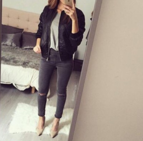jacket black jacket black bomber jacket