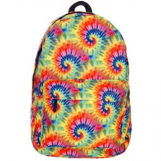 bag backpack rainbow tie dye back to school fashion style hippie cool boogzel