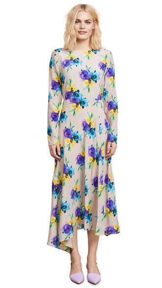 dress printed dress silk