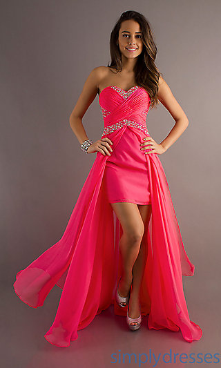Dress, strapless sweetheart formal gown
