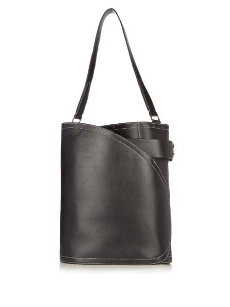 Hillier Bartley bag bucket bag leather black grey