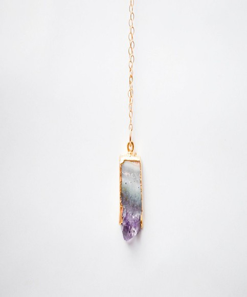 jewels quartz stone necklace crystal quartz classic style dainty jewelry necklace gemstone gold