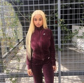 jumpsuit,burgundy,maroon/burgundy,india westbrooks,india love,cute,sexy,nike,eye makeup,jeans,warm,winter outfits,fall outfits,zip