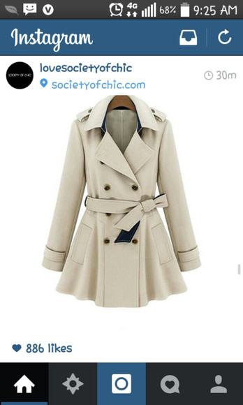 trench coat jacket