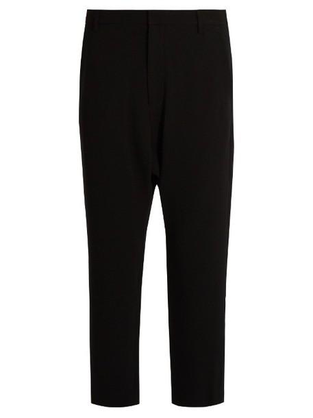 NILI LOTAN Paris dropped-crotch crepe trousers in black