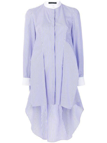 dress shirt dress women cotton blue