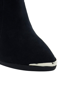London Rebel | London Rebel Tobago Toecap Platform Heeled Boot at ASOS