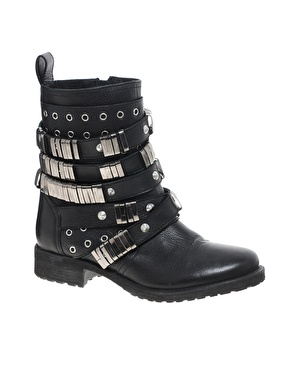 ASOS | ASOS ABERDEEN Leather Biker Boots at ASOS