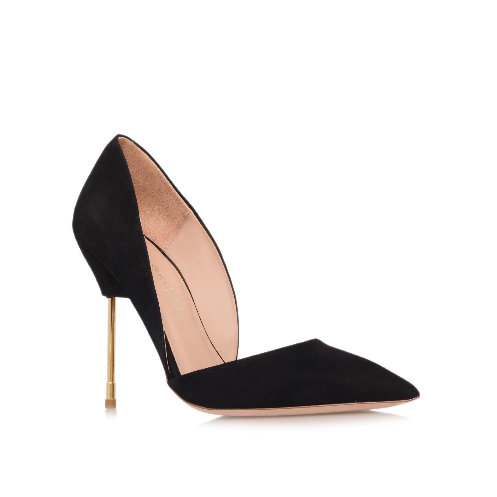 BOND Black High Heel Court Shoes by