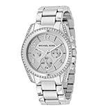 Michael Kors Runway Silver MK Logo Watch | Dillards.com
