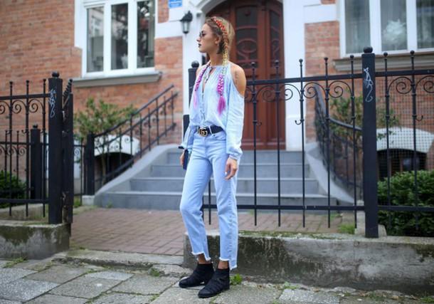 juliett kuczynska blogger pants shoes blouse bag belt