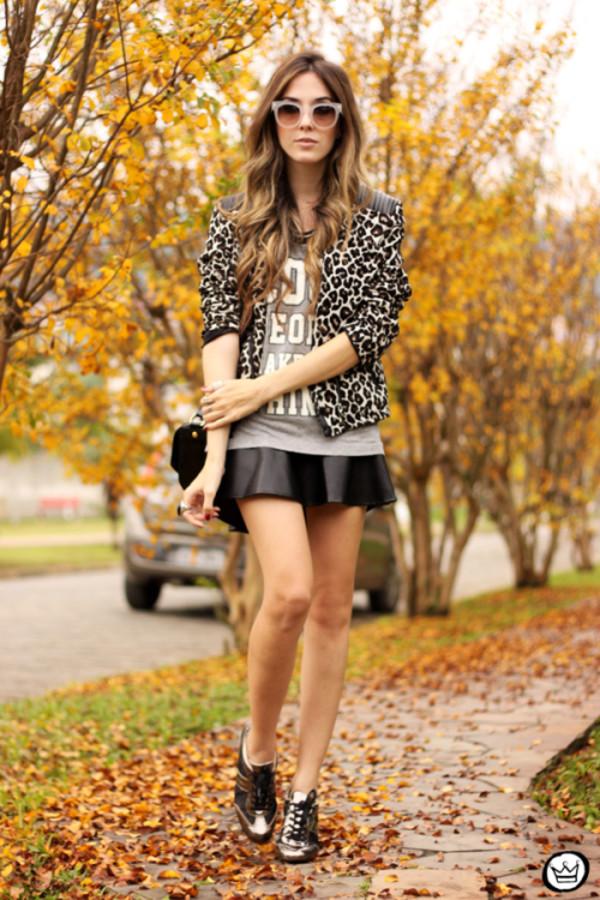 fashion coolture jacket t-shirt skirt bag sunglasses shoes