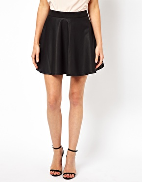 Oasis | Oasis Faux Leather Skater Skirt at ASOS
