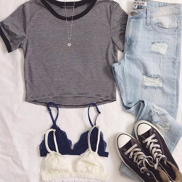 tank top jeans blouse shoes