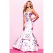 dress,print,customized,prom dress,pink