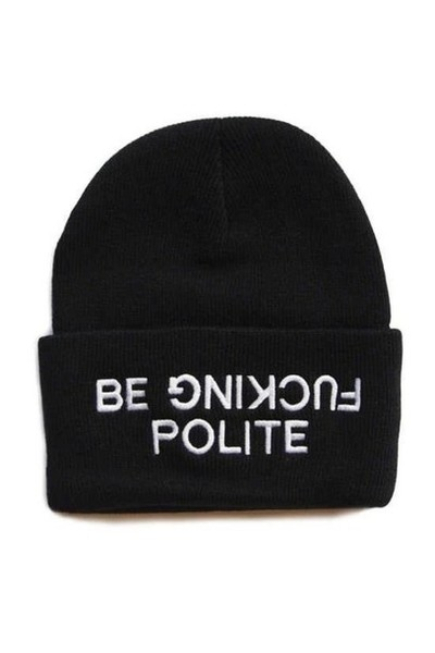 Be Fucking Polite Beanie Hat · TheTshirtShop · Online Store Powered by Storenvy