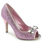 shoes,heels,peep toe heels,glitter,sparkle,kitten heel,silver,prom,girly,cute,trendy,fuchsia,pink,shimmer,shimmering