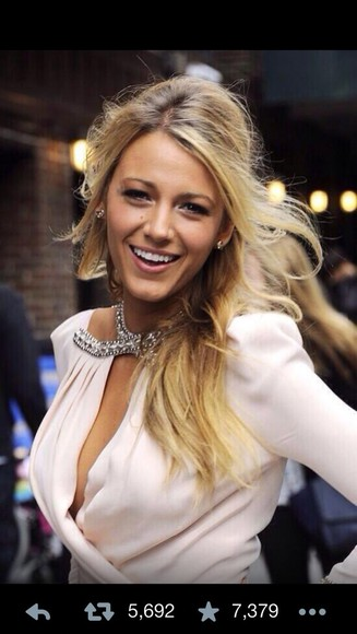 wrap white blouse blake lively jewels shirt party going out cute chic hot vneck adorable