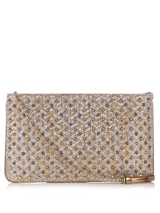 embellished clutch gold bag