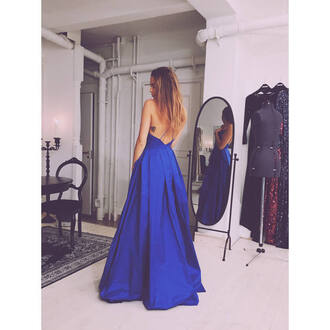 dress blue prom dress prom dress gown