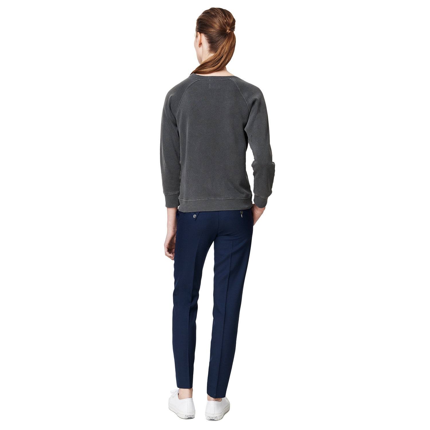 GANT RUGGER Women's The Godmother Sweatshirt Graphite | Official Site