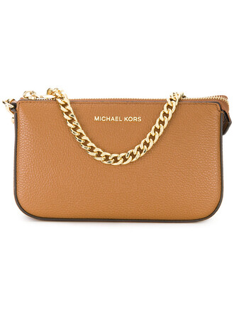 women clutch leather brown bag