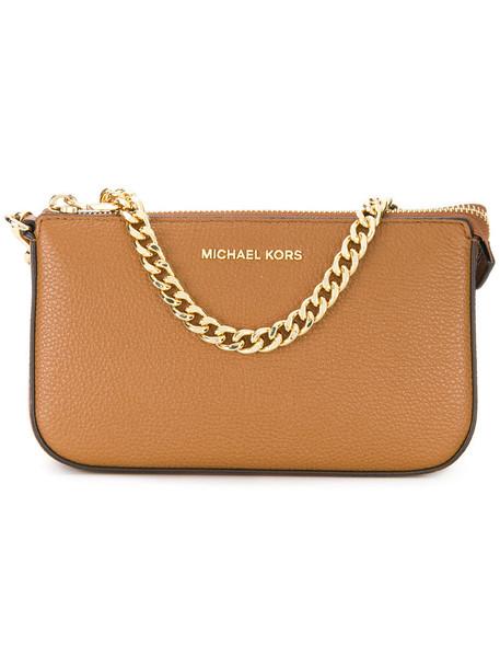 MICHAEL Michael Kors women clutch leather brown bag