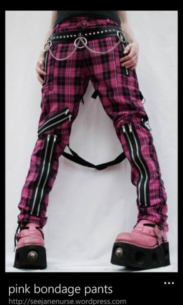 jeans punk alternative pink kawaii emo