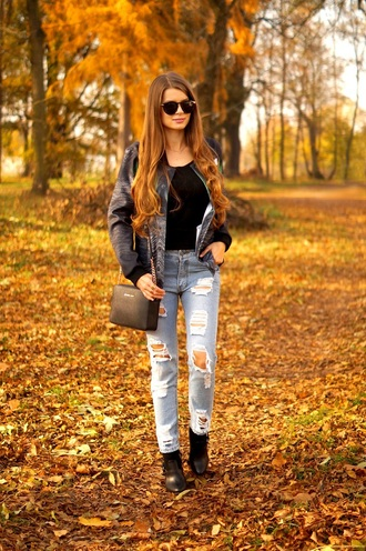 only my fashion style blogger jacket jeans bag