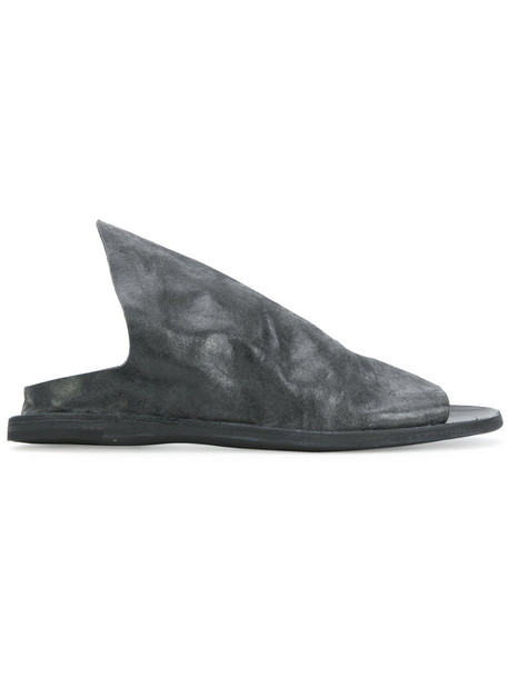 OFFICINE CREATIVE women mules leather grey shoes