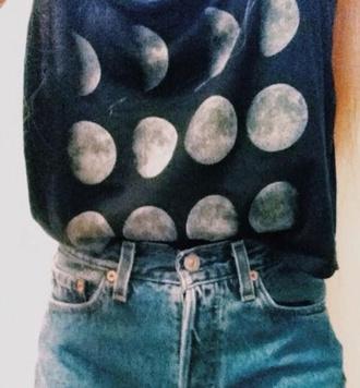 top shirt moon