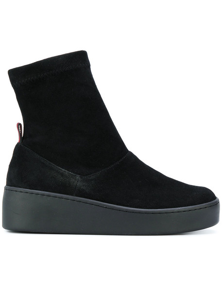 Robert Clergerie women ankle boots leather suede black shoes