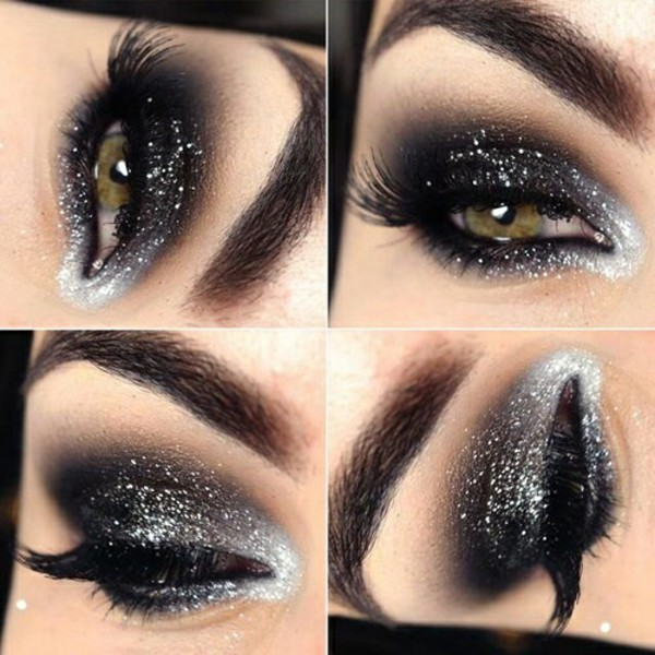 make-up black eyeshadow eye shadow eye makeup glitter